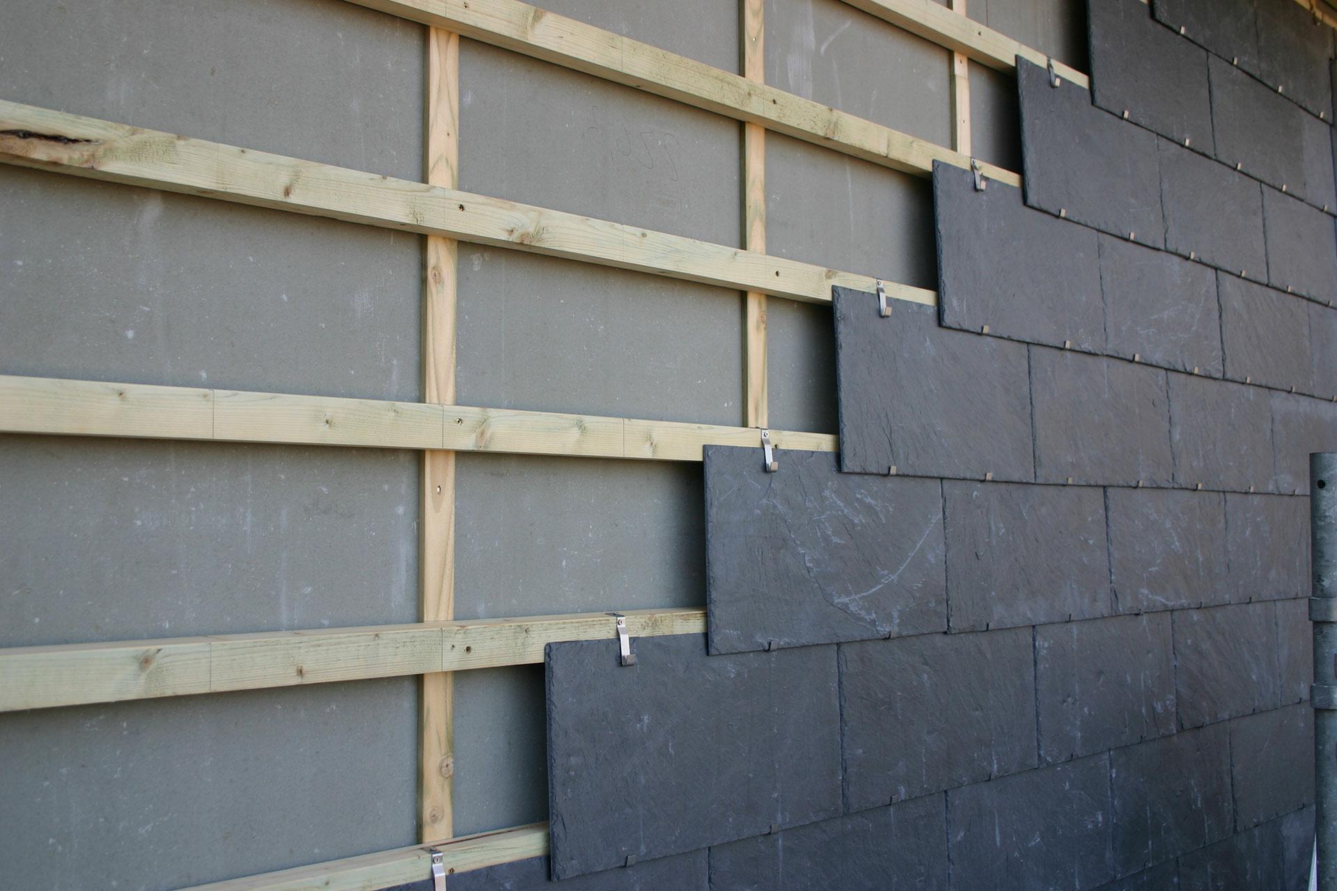 Saxo 6 facadeskifer til facadebeklædning i størrelse 60x30